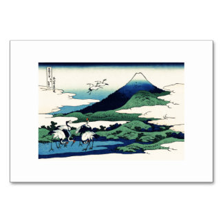 Cranes Fly Toward Mountain Table Cards