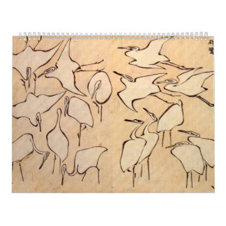 Cranes from Quick Lessons in Simplified Drawing Calendar