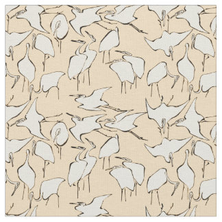 Cranes from Quick Lessons in Simplified Drawing Fabric