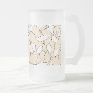 Cranes from Quick Lessons in Simplified Drawing Frosted Glass Beer Mug