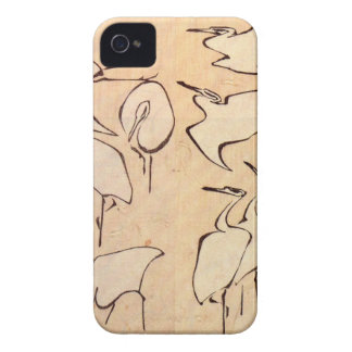 Cranes from Quick Lessons in Simplified Drawing iPhone 4 Case