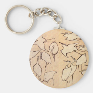 Cranes from Quick Lessons in Simplified Drawing Keychain