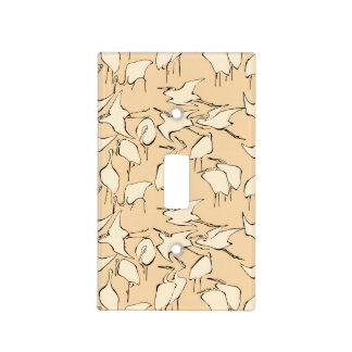 Cranes from Quick Lessons in Simplified Drawing Light Switch Cover