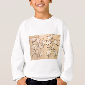 Cranes from Quick Lessons in Simplified Drawing Sweatshirt