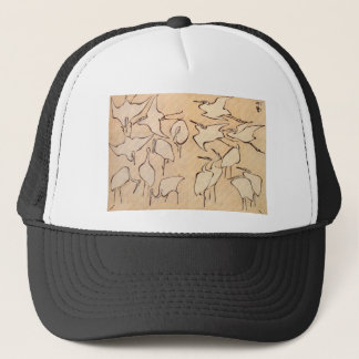 Cranes from Quick Lessons in Simplified Drawing Trucker Hat
