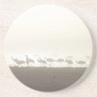 Cranes in the mist coaster