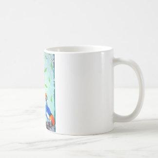 cranes in winter coffee mug
