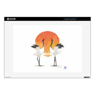 Cranes laptop skin! calcomanía para 38,1cm portátil