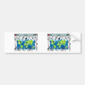 Cranes of the World Car Bumper Sticker