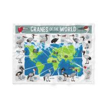 Cranes of the World Fleece Blanket