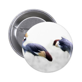 cranes pair couple custom personalize project home pinback button