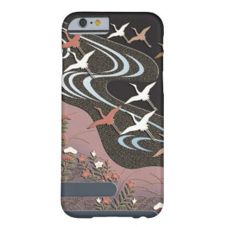Cranes,river,autumn flowers and mist barely there iPhone 6 case