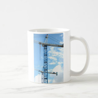 Cranes Stand in the Sky Classic White Coffee Mug