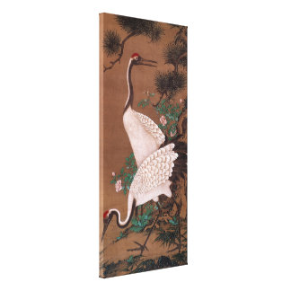 Cranes, Watanabe Shuseki Japanese Fine Art Canvas Print