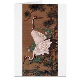 Cranes, Watanabe Shuseki Japanese Fine Art Card