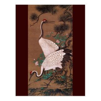 Cranes, Watanabe Shuseki Japanese Fine Art Postcard