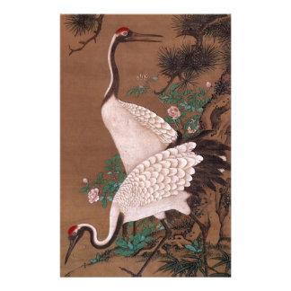 Cranes, Watanabe Shuseki Japanese Fine Art Stationery