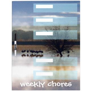 Cranes Weekly Chores Dry Erase Board