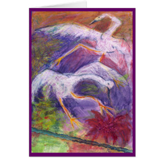 cranes whooping  it up stationery note card