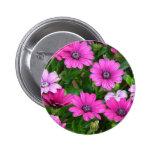 Cranesbill Geranium (Pink Flowers) Button
