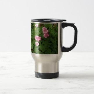 Cranesbill Single Pink Flower - photograph Travel Mug