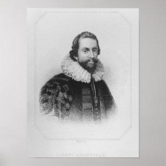 Cranfield de los 'retratos británicos de la casa d póster