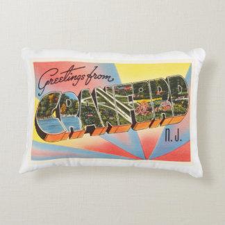 Cranford New Jersey NJ Vintage Travel Postcard- Accent Pillow