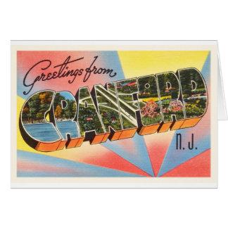 Cranford New Jersey NJ Vintage Travel Postcard- Card