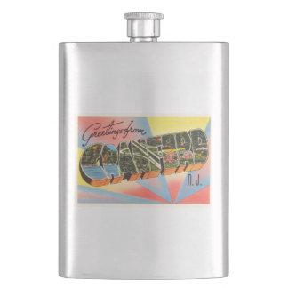 Cranford New Jersey NJ Vintage Travel Postcard- Hip Flask