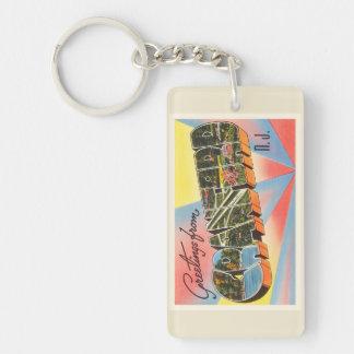Cranford New Jersey NJ Vintage Travel Postcard- Keychain