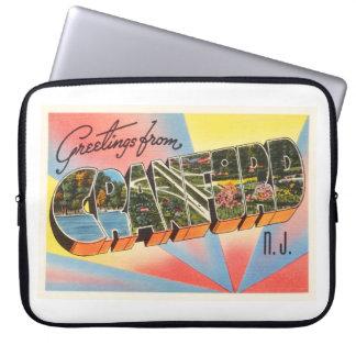 Cranford New Jersey NJ Vintage Travel Postcard- Laptop Sleeve