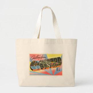 Cranford New Jersey NJ Vintage Travel Postcard- Large Tote Bag