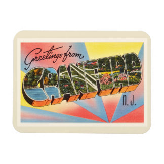 Cranford New Jersey NJ Vintage Travel Postcard- Magnet