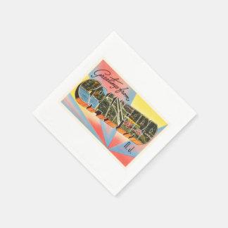 Cranford New Jersey NJ Vintage Travel Postcard- Paper Napkin