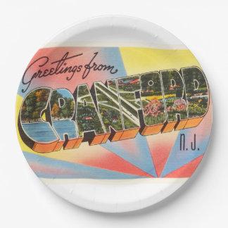 Cranford New Jersey NJ Vintage Travel Postcard- Paper Plate