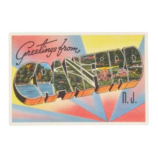 Cranford New Jersey NJ Vintage Travel Postcard- Placemat