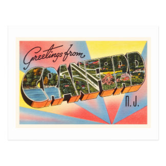 Cranford New Jersey NJ Vintage Travel Postcard- Postcard