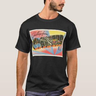 Cranford New Jersey NJ Vintage Travel Postcard- T-Shirt