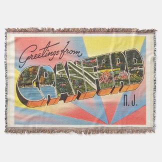 Cranford New Jersey NJ Vintage Travel Postcard- Throw