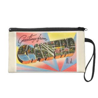 Cranford New Jersey NJ Vintage Travel Postcard- Wristlet