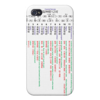 Cranial Nerves japanese 12 Cases For iPhone 4