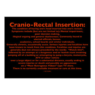 Cranio-Rectal Insertion Poster