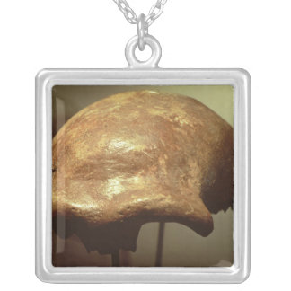 Cranium of a Neanderthal Silver Plated Necklace