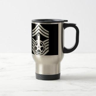 CrankForce Crankset and Stripes Travel Mug