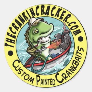 Crankincracker Logo Classic Round Sticker