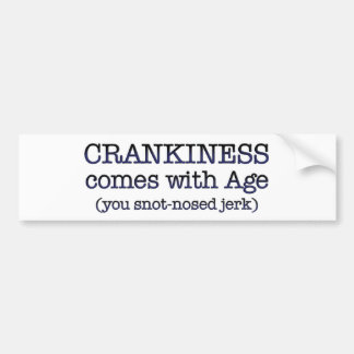 crankiness.png car bumper sticker