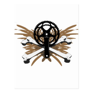 Crankset Crossbones - brown Postcard