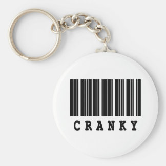 cranky barcode design key chain