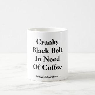 Cranky Black Belt In Need Of Coffee Coffee Mugs