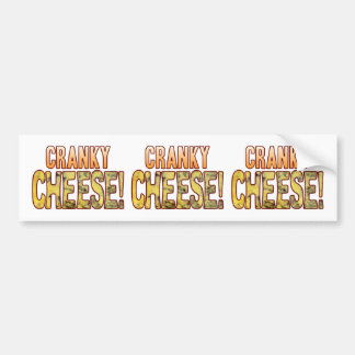 Cranky Blue Cheese Bumper Sticker